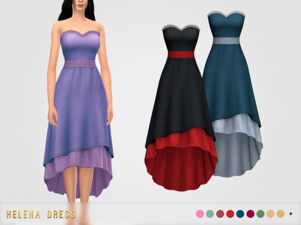 The Sims Resource: Helena Dress by pixelette