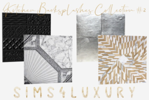 Sims4Luxury: Kitchen Backsplashes Collection 2