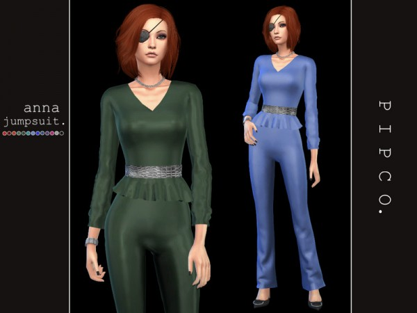 The Sims Resource: Anna jumpsuit by Pipco