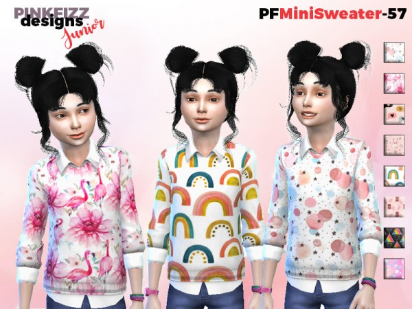 The Sims Resource: Mini Sweater   PF57 by Pinkfizzzzz