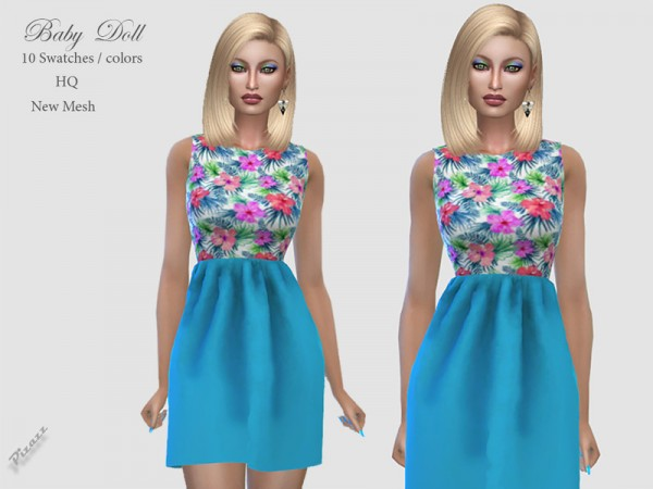 The Sims Resource: Baby Doll Dress by pizazz