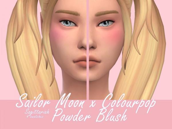 The Sims Resource: Sailor Moon Colourpop Powder Blush by Sagittariah