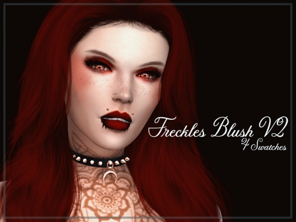 The Sims Resource: Freckles Blush V2 by Reevaly