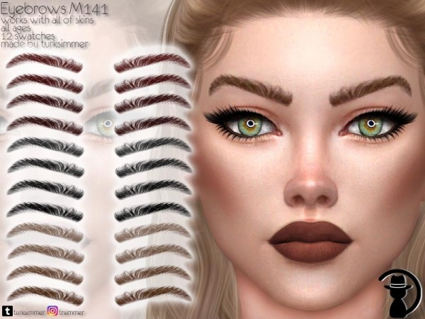 The Sims Resource: Eyebrows M141 by turksimmer