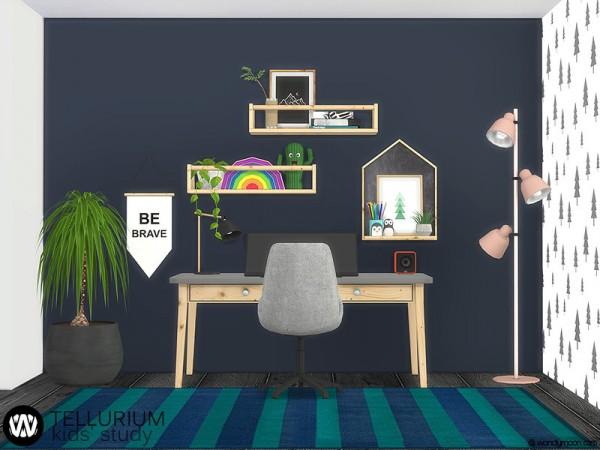 The Sims Resource: Tellurium Kids Study Room by wondymoon