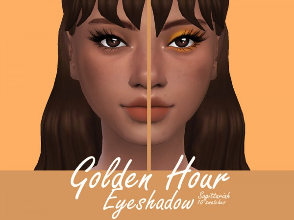 The Sims Resource: Golden Hour Eyeshadow by Sagittariah