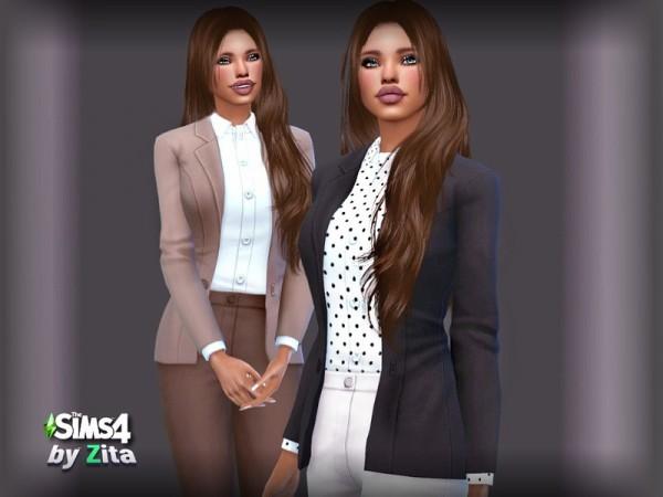 The Sims Resource: City Exec top by ZitaRossouw