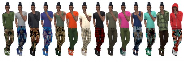 Sims 4 Sue: Cuffed Cargo Pants