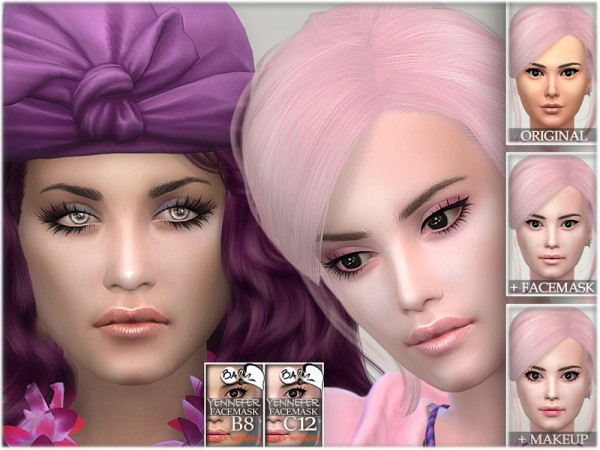 The Sims Resource: Yennefer facemask by BAkalia