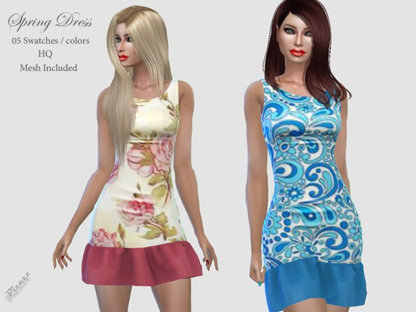 The Sims Resource: Spring Dress 015 by pizazz