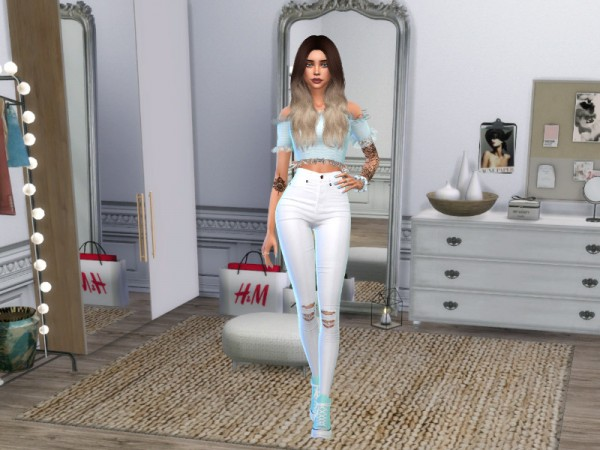 The Sims Resource: CAS Background   White girls room by Nordica sims