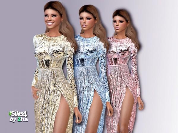 The Sims Resource: Glamezon dress by ZitaRossouw