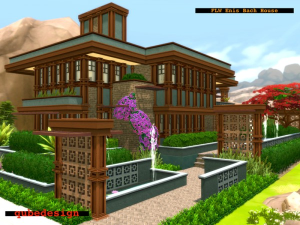 The Sims Resource: FLWs Enis Bach House NO CC by QubeDesign