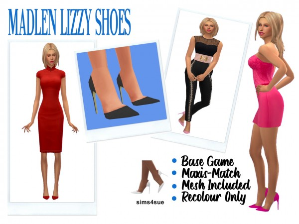 Sims 4 Sue: Madlen`s Lizzy Shoes recolored