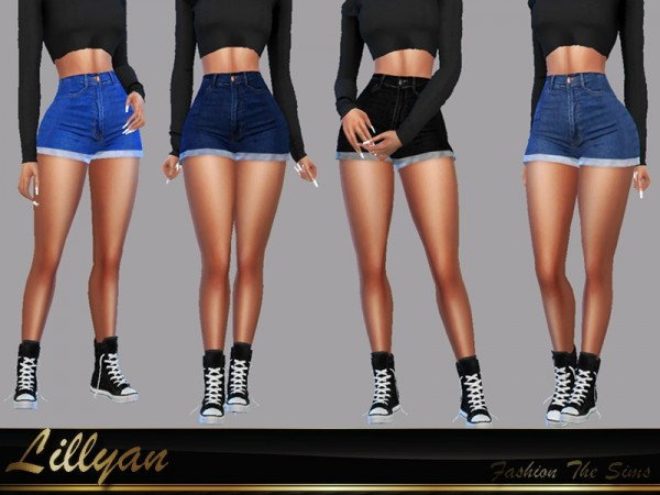 The Sims Resource: Short jeans Bianca by LYLLYAN