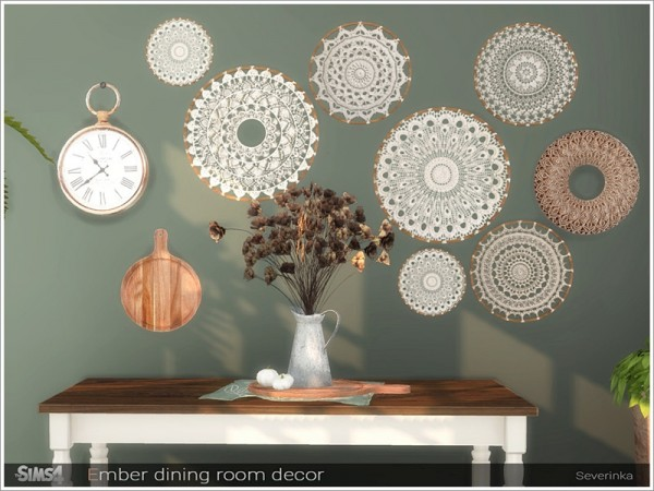 The Sims Resource: Ember dining room decor by Severinka