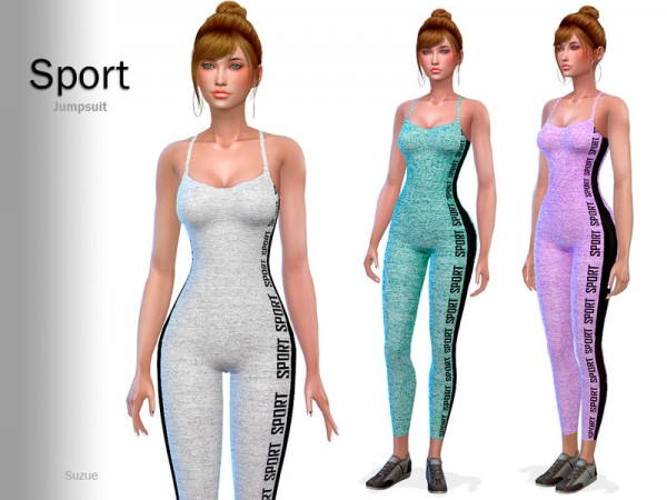 The Sims Resource: Sport Jumpsuit by Suzue