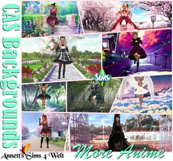 Annett`s Sims 4 Welt: CAS Backgrounds   More Anime