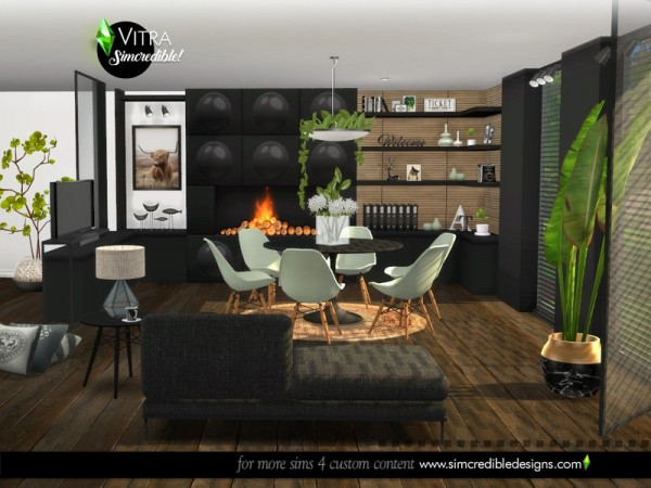 The Sims Resource: Vitra Dining room by SIMcredible!