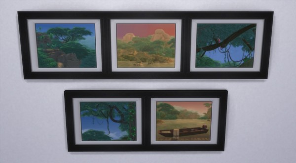 Sims Artists: Nature selvadoradienne paintings