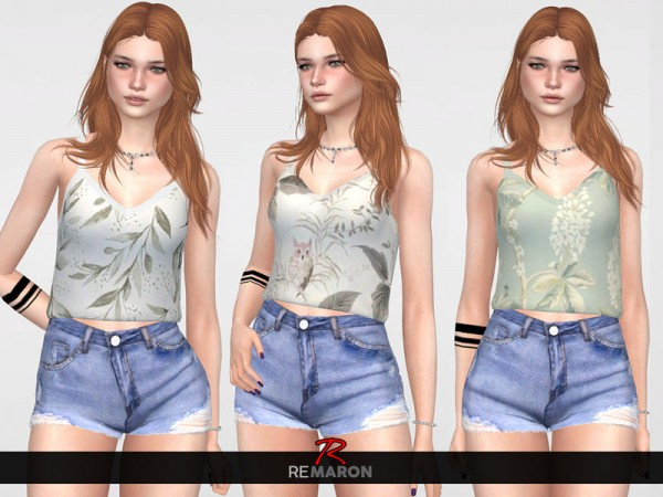The Sims Resource: Floral Top for Women 02 by remaron