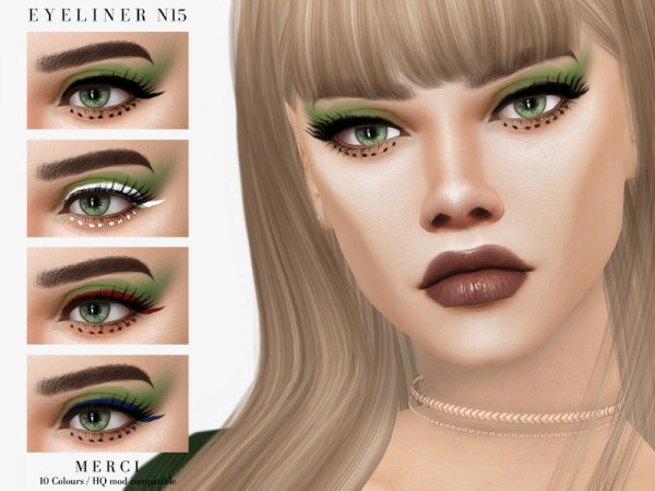 The Sims Resource: Eyeliner N15 by Merci