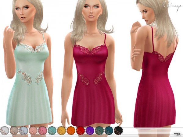 The Sims Resource: Lace Detail Chemise by ekinege