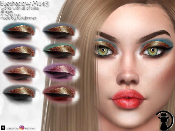 The Sims Resource: Eyeshadow M143 by turksimmer