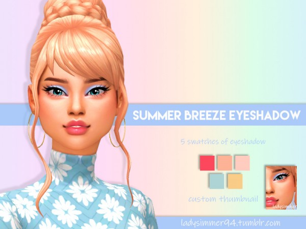 The Sims Resource: Summer Breeze Eyeshadow by LadySimmer94