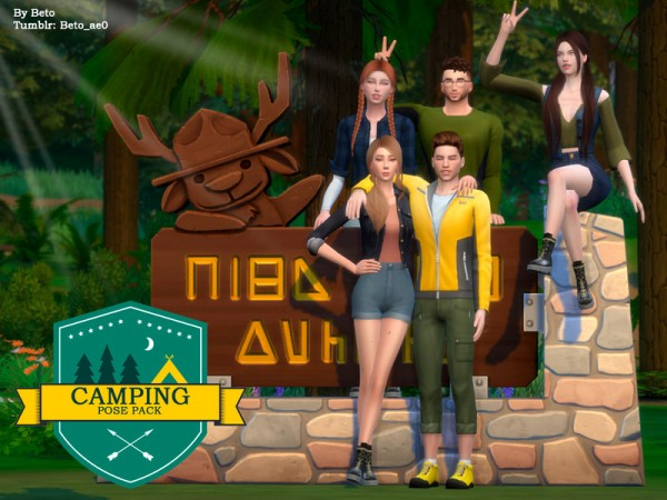 The Sims Resource: Camping   Pose Pack by Beto ae0