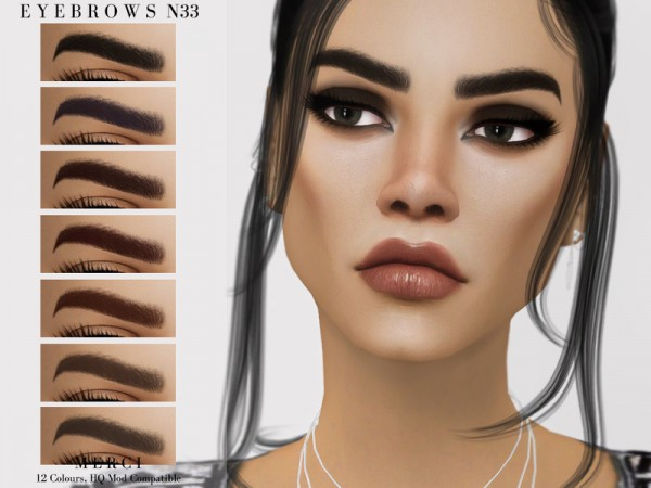 The Sims Resource: Eyebrows N33 by Merci