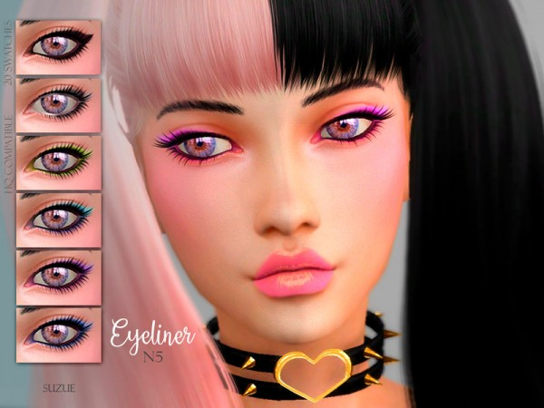 The Sims Resource: Eyeliner N5 by Suzue