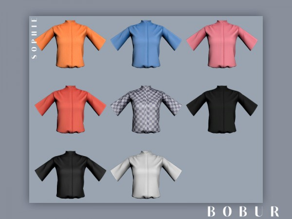 The Sims Resource: Sophie blouse by Bobur