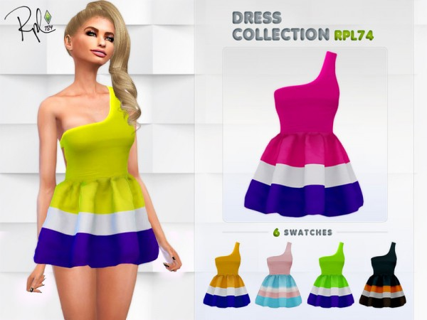 The Sims Resource: Dress Collection RPL74 by RobertaPLobo