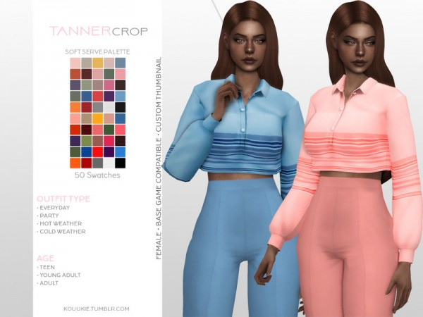 The Sims Resource: Tanner Crop by Kouukie