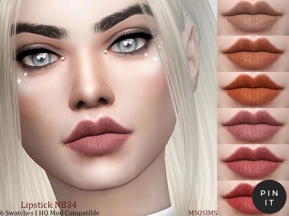 MSQ Sims: Lipstick NB34