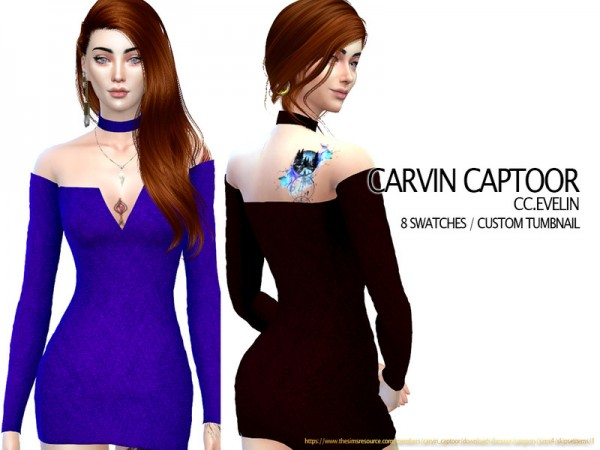 The Sims Resource: Evelin Dress by carvin captoor
