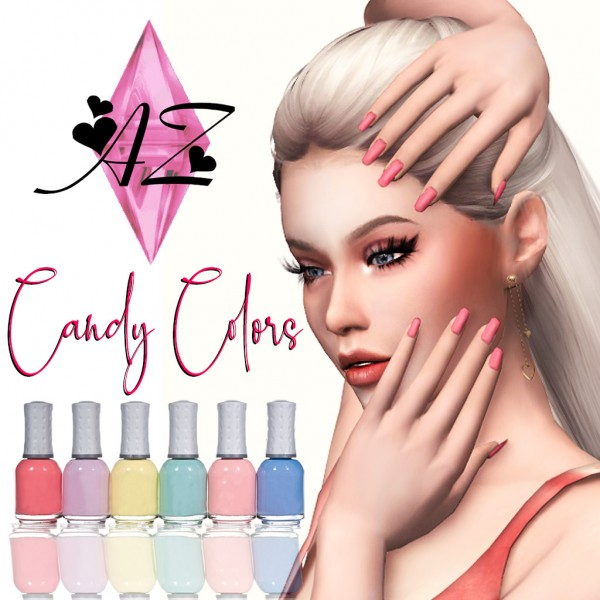 Ana Zanacolle: Candy Colors Nails
