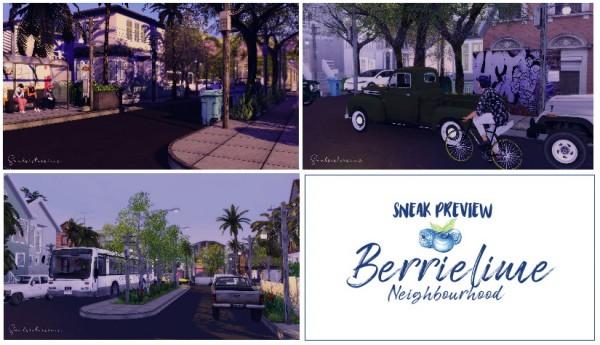 Ideassims4 art: 122 Berrielime neighbourhood   part 1