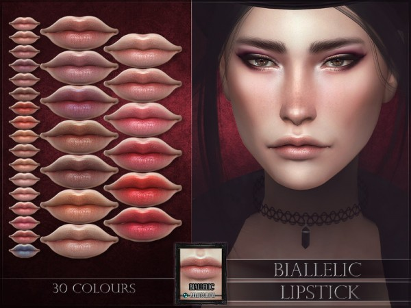The Sims Resource: Biallelic Lipstick by RemusSirion