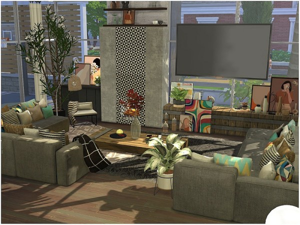 The Sims Resource: Modern White Villa by lotsbymanal