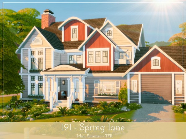 The Sims Resource: 191 Spring Lane House by Mini Simmer