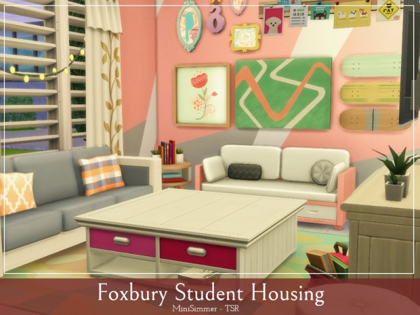 The Sims Resource: Foxbury Student housing by Mini Simmer