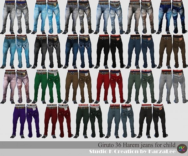 Studio K Creation: Harem jeans for child