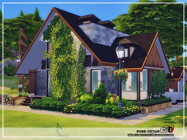The Sims Resource: Scandi cottage House by Danuta720