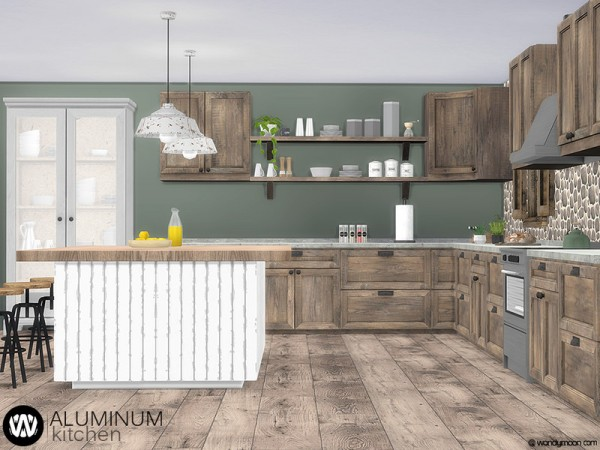 The Sims Resource: Aluminum Kitchen by wondymoon