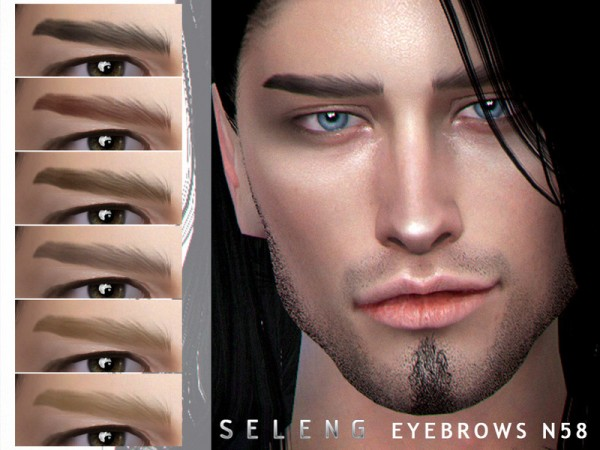 The Sims Resource: Eyebrows N58 by Seleng