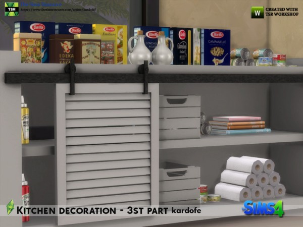 The Sims Resource: Kitchen decoration 3rd part by kardofe