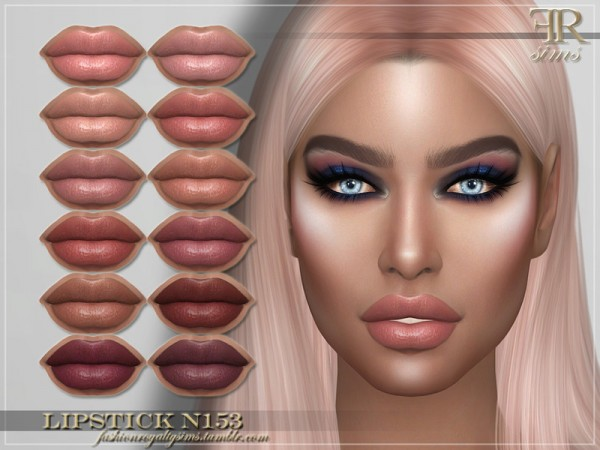 The Sims Resource: Lipstick N153 by FashionRoyaltySims