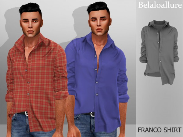 The Sims Resource: Belaloallure Franco shirt by belal1997